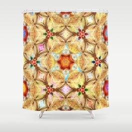 kaleidoscope - releitura de um jardim Shower Curtain