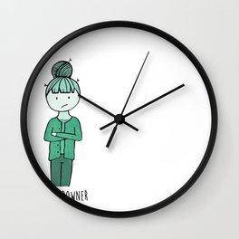 Debby Downer by Cheyenne Austin Wall Clock