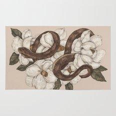 Snake and Magnolias Rug