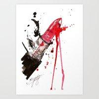 fleetwood mac Art Prints featuring MAC by Sasha Spring Illustration