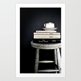 Books&Stool Art Print