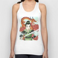 mulan Tank Tops featuring Mulan by Aimee Steinberger