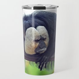 White-Faced Saki Travel Mug