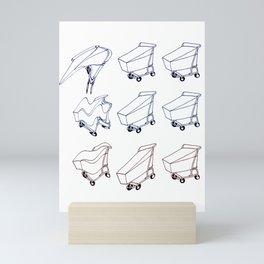 Cart Warped Mini Art Print