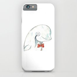 Geek whale watercolor iPhone Case
