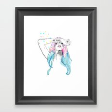 Oh yeah, reality bites Framed Art Print