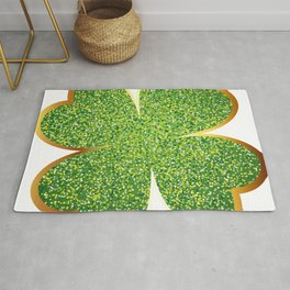Guys! Have This St. Patrick's Four-Cleaf Clover Tee Saying T-shirt Design Irish Celebrate Party Rug