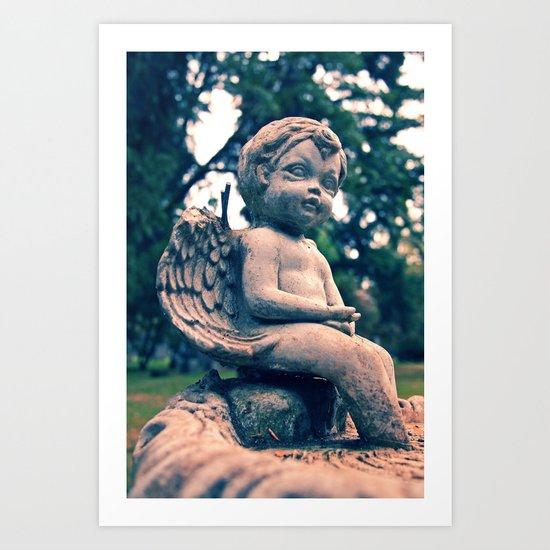 Cemetery putto Art Print