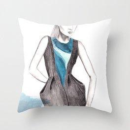 Victor Chan Illustration Throw Pillow
