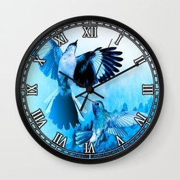 Inked Skies Wall Clock