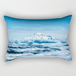Mount Rainier Above the Clouds Rectangular Pillow