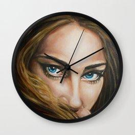 Intense Gaze Oil Painting detail Wall Clock
