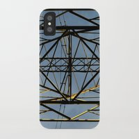 the wire iPhone & iPod Cases featuring Metal Wire by Lia Bernini