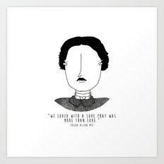 Literary Love: Edgar Allan Poe Art Print