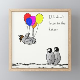 To be a Flying Penguin Framed Mini Art Print