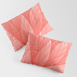Reef Coral Living Color of the Year 2019 Abstract Pattern Fractal Fine Art Pillow Sham