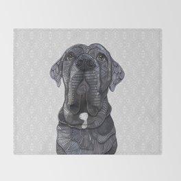 Chief the Mastiff Throw Blanket