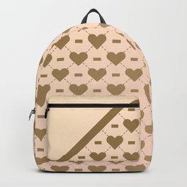 Heartless 2 - Pink Sherbert + Brass Backpack