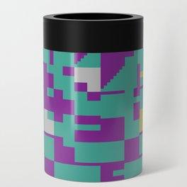 Abstract 8 Bit Art Can Cooler