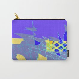 Yellow Square Hatchling  Blue-purple  Abstract Carry-All Pouch