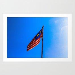 Malaysia Flag Art Print