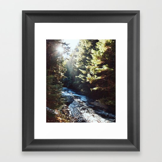 Downstream Framed Art Print