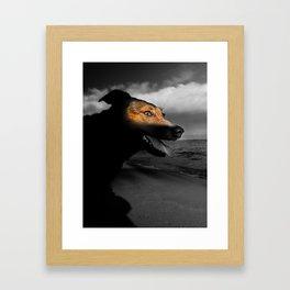 Sunshine on a gloomy day. Framed Art Print
