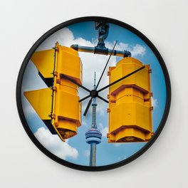 Between the Lights. Toronto Cityscape Photograph  Wall Clock