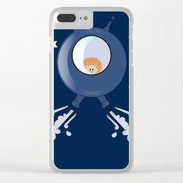 Hedgehog in space. Clear iPhone Case