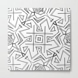 Tic Tac Geometric-Oh Metal Print