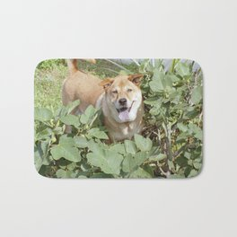Playing in a fig tree Bath Mat