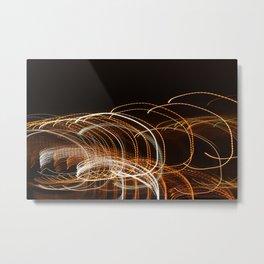 Light Roller Coaster Metal Print