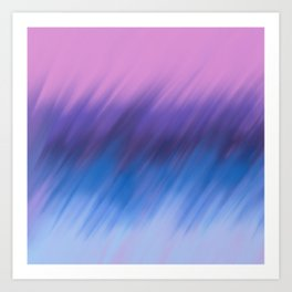 Modern hand painted navy blue pink watercolor brushstrokes Art Print