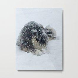 Bug's Snow Day Metal Print