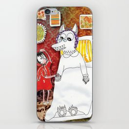 Girl & Wolf iPhone Skin