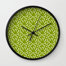 new polka dot 103 green Wall Clock