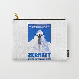 1931 Zermatt Switzerland Ski Travel Poster Carry-All Pouch