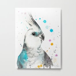 Cockatiel parrot Metal Print