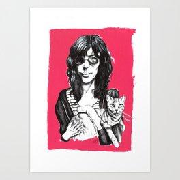 Everybody Loves Cats Art Print
