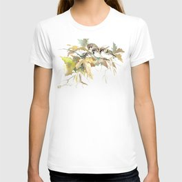 Sparrows and Fall Tree T-shirt