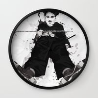 chaplin Wall Clocks featuring CHAPLIN by Analy Diego