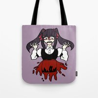 backpack Tote Bags featuring Red Backpack by Desert Skulls