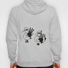 Funny Sheep Playing Bagpipes Original Artwrk Hoody
