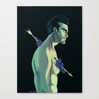 derek hale Canvas Prints featuring Derek Hale by Rahciach