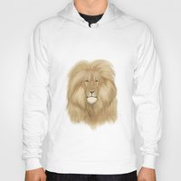 lion king Hoodies featuring king lion by Ewa Pacia