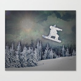 The Snowboarder Canvas Print