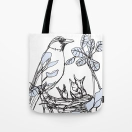 Robin's Nest (a one-line drawing) Tote Bag
