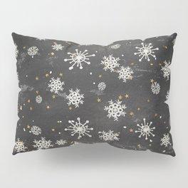 Boho Black Snowflakes Pillow Sham