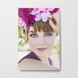 Chelsea Brownlie Model Beauty Metal Print