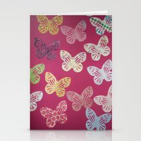 butterflies Stationery Cards featuring Butterflies  by Sammycrafts